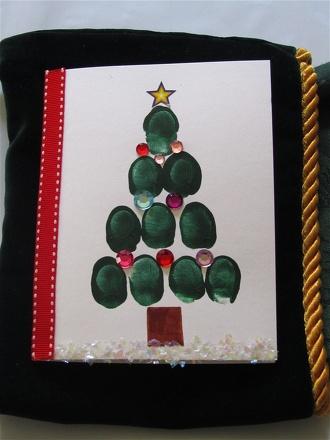 Thumbprint Christmas Tree Cards Activity Education Com