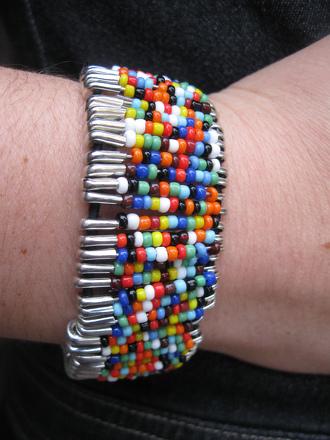 Safety Pin Bead Bracelet Activity