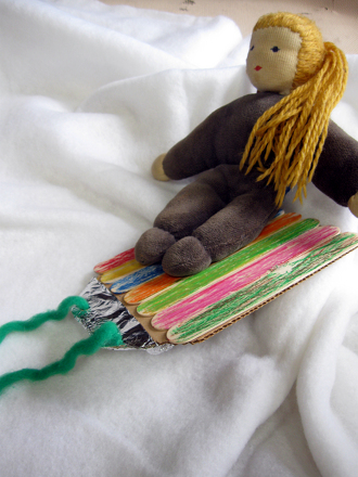 Craft A Simple Stick Sled Activity Education Com