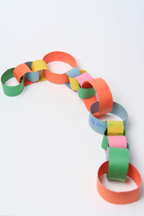 make a paper chain activity. Black Bedroom Furniture Sets. Home Design Ideas