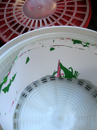 Salad Spinner Painting Activity