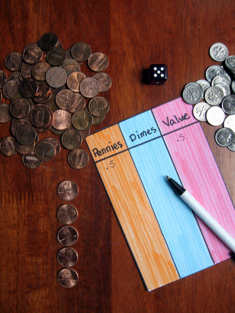 Play pennies dimes dollar activity for Crafts that make the most money