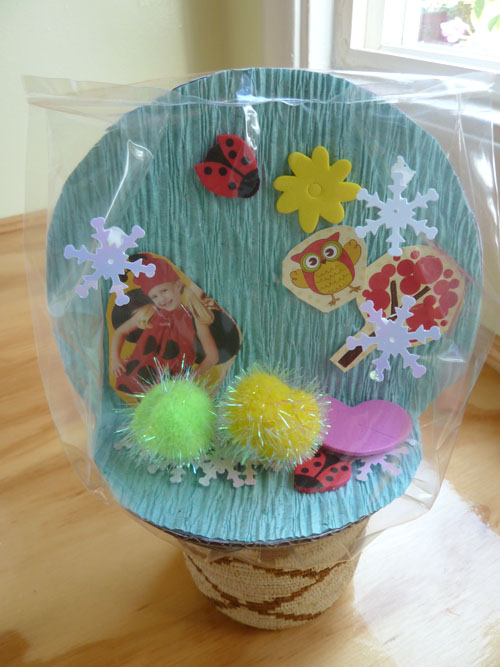 make a summer snow globe