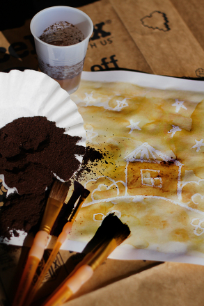 Painting With Coffee Grounds