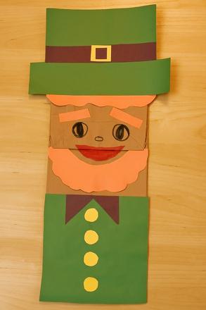 Leprechaun Puppet Activity Education