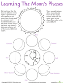 Printables Moon Phase Worksheet moon phases worksheet education com