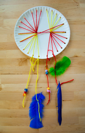 Woven Paper Plate Dream Catcher Activity Education Com
