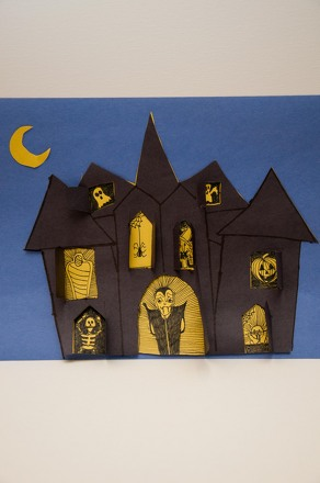 Make a haunted house activity Haunted house drawing ideas