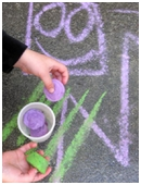 What could be more fun than doing sidewalk art? How about making your own colored sidewalk chalk!