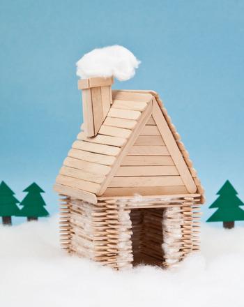 Log Cabin Craft For Kids Sticks
