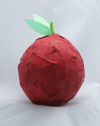 PapierMache Apple for Teacher
