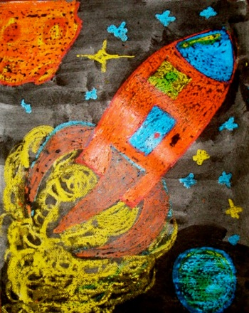 Outer Space Painting Activity