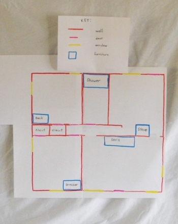 Map my house activity for How to draw a room to scale