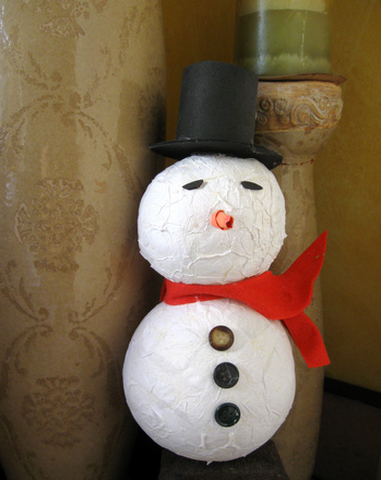 Paper Mache Snowman Activity Education