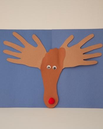 Handprint Reindeer   Activity   Education.com