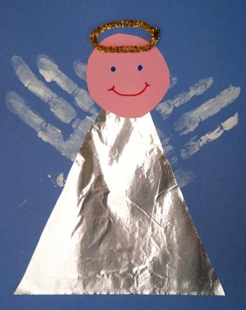 Handprint Angel Activity Education Com