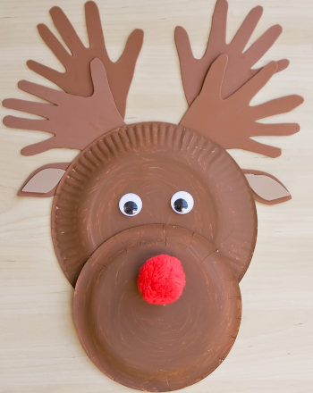 Make a paper plate reindeer activity for Reindeer project