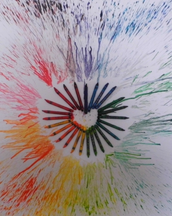 Melted Crayon Art Heart Activity