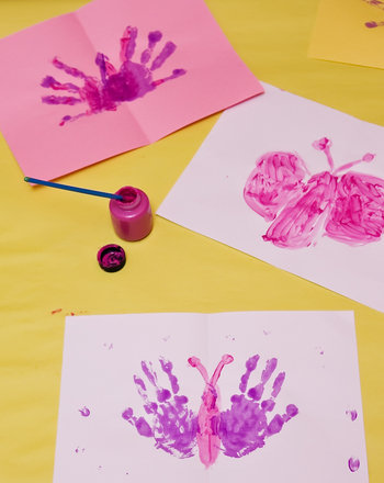 Make A Handprint Butterfly Activity Education Com