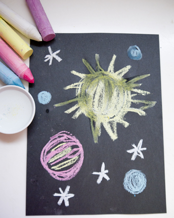 Outer space art activity for Outer space project