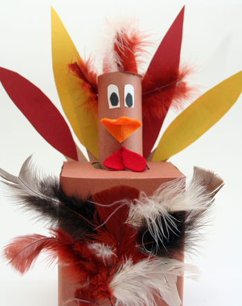 Make A Tissue Box Thanksgiving Turkey Activity