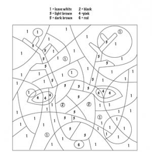 Christmas Color by Number Worksheets   Education.com