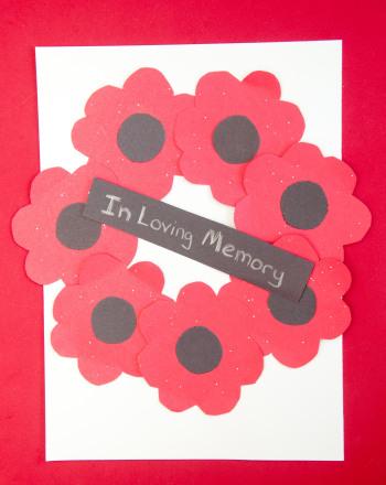 Poppy Wreath Paper Craft | Activity | Education.com