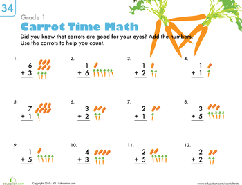 Counting Carrots Addition