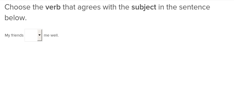 Subject Verb Agreement 1 Exercise