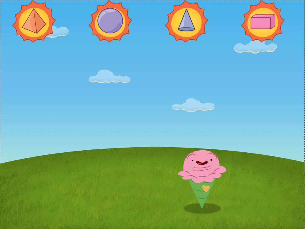3D Shapes Ice Cream Attack Game : Game : Education.com