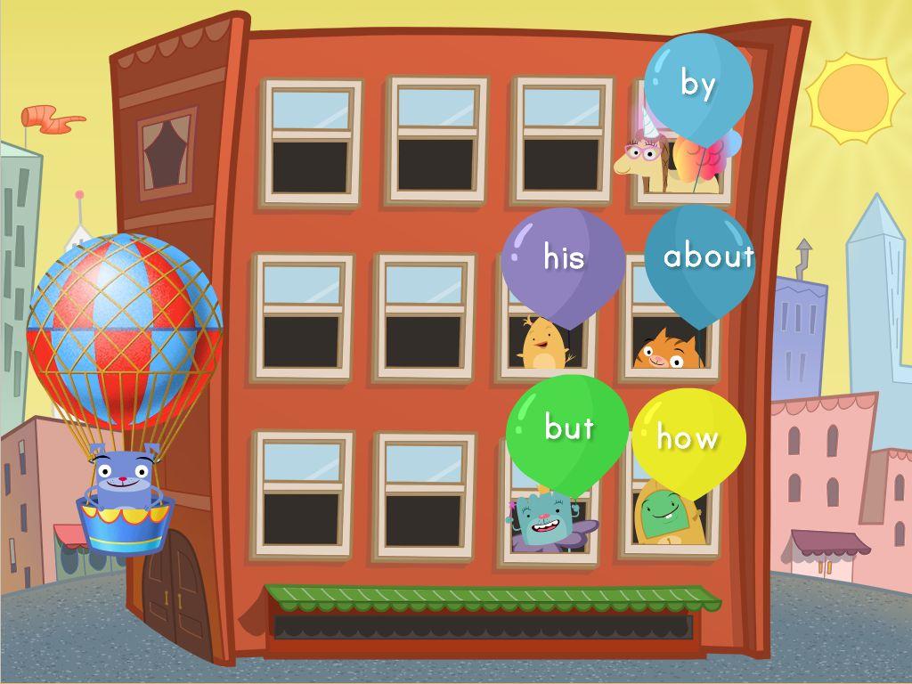 sight words balloon pop game