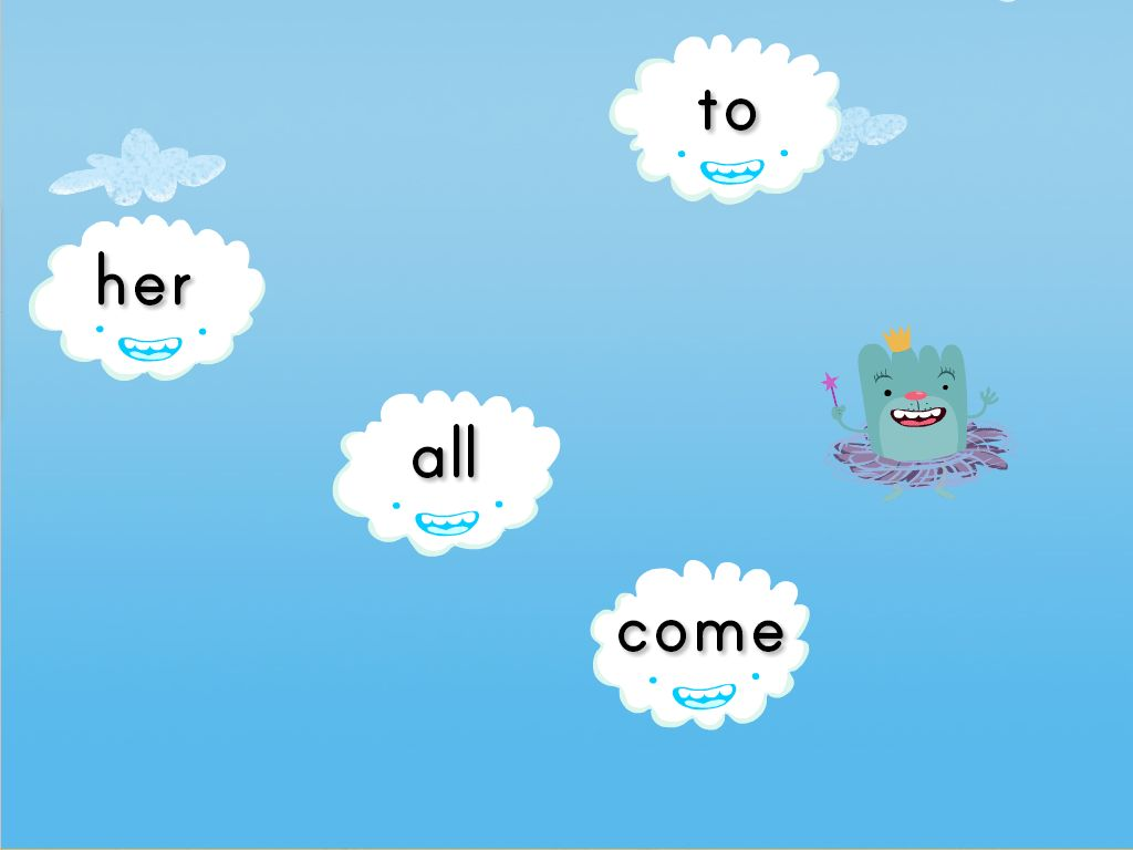 Sight Words Cloud Catcher on Essential Activities Sight Word Get