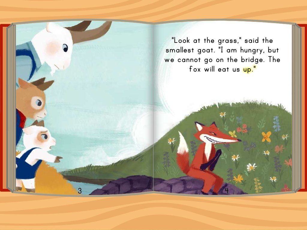 Three Billy Goats Gruff on story sequencing worksheets kindergarten