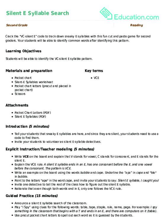 Vce spelling pattern worksheets