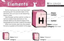 5th grade periodic table worksheets education urtaz Choice Image