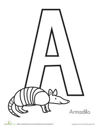 Animal Alphabet Printable Workbook