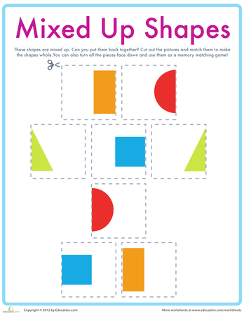 Basic Shapes | Printable Workbook | Education.com