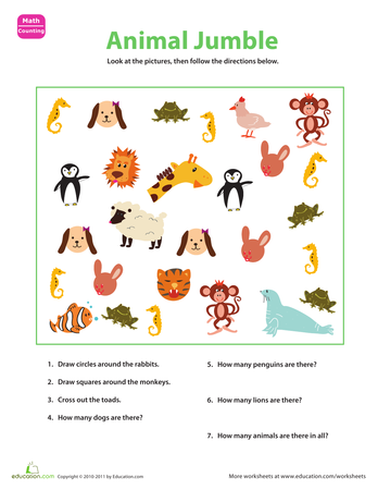 Categorize and Count | Printable Workbook | Education.com