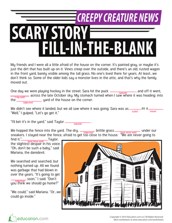 Let's Write a Scary Story! (A Group Writing Assignment)