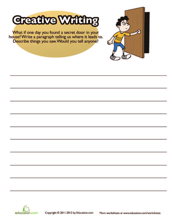 4th grade writing prompts worksheets That's where our fourth grade writing prompts and composition worksheets come in handy in addition to a variety of intriguing writing topics like zombies, volcanoes, superheroes, and finish-the-mystery, these worksheets help young students work on an array of important writing skills, including persuasive paragraph, story.
