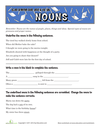5th Grade Grammar Worksheets on Preposition Worksheets For Grade 3