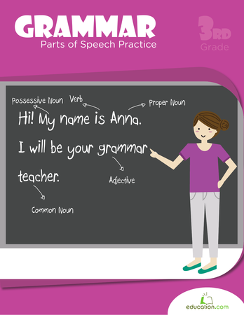 Printables Grammar Parts Of Speech Worksheets grammar parts of speech practice workbook education com