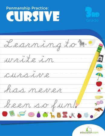 Penmanship Practice: Cursive | Workbook | Education.com