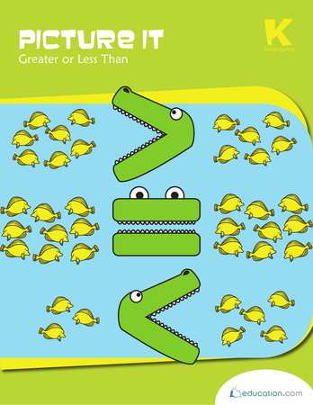 picture it greater workbook preview 0 - Greater Than Less Than Kindergarten