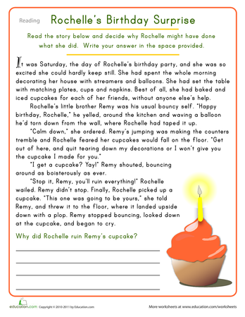 Reading Comprehension | Printable Workbook | Education.com