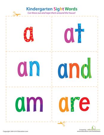 Divine image inside printable kindergarten sight words