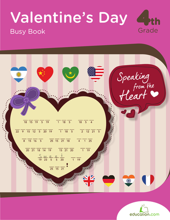Valentine's Day Busy Book   Workbook   Education.com